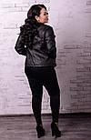 Женская куртка косуха в батальных размерах vN519, фото 4