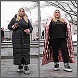 Длинное плащевое пальто в больших размерах с капюшоном vN602, фото 8