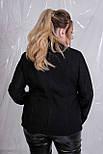 (от 42 до 90 размера) Женская буклированная куртка-косуха в больших размерах vN629, фото 4