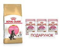 Royal Canin Maine Coon Kitten 2кг+3 пауча- корм для котят породы мейн кун