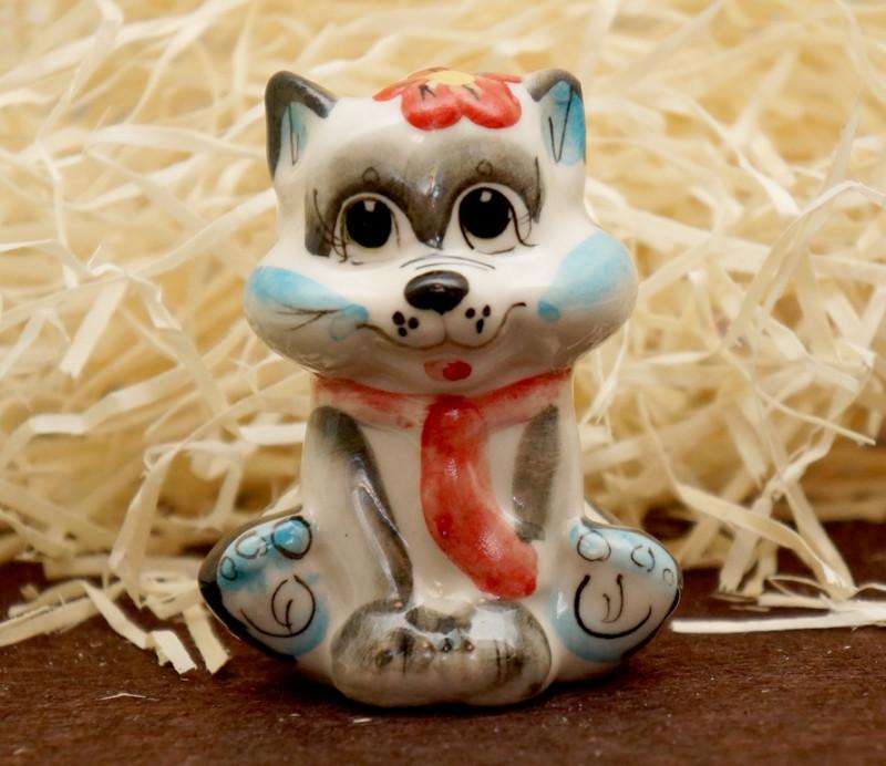 9380296 Фигурка керамическая Кіт з краваткою (колір)