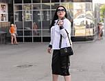 Женская белая рубашка большого размера a-vN675, фото 3