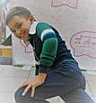 Дитячий кардиган для хлопчика Krytik Італія 84366 / kb / 00a синій, рукава зелений з синьою і білою смужкою, фото 2