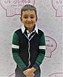 Дитячий кардиган для хлопчика Krytik Італія 84366 / kb / 00a синій, рукава зелений з синьою і білою смужкою, фото 3