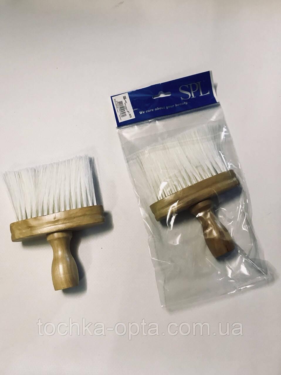 Смётка парикмахерская деревянная SPL