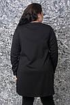 Женская туника большого размера с экокожей vN835, фото 5