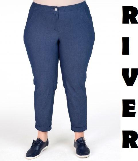 (от 48 до 82 размера) Женские джинсы в больших размерах с подворотом vN1262