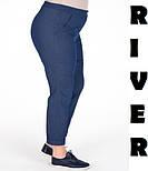 (от 48 до 82 размера) Женские джинсы в больших размерах с подворотом vN1262, фото 2
