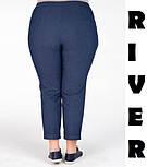 (от 48 до 82 размера) Женские джинсы в больших размерах с подворотом vN1262, фото 3