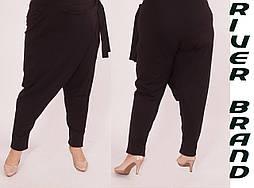 Женские брюки в больших размерах с запахом на бедрах vN1286