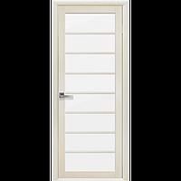 Дверь межкомнатная Виола дуб жемчужный 700 мм со стеклом сатин (матовое), Экошпон.