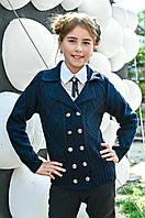 Вязаный пиджак  в школу 32-44 размер, фото 1