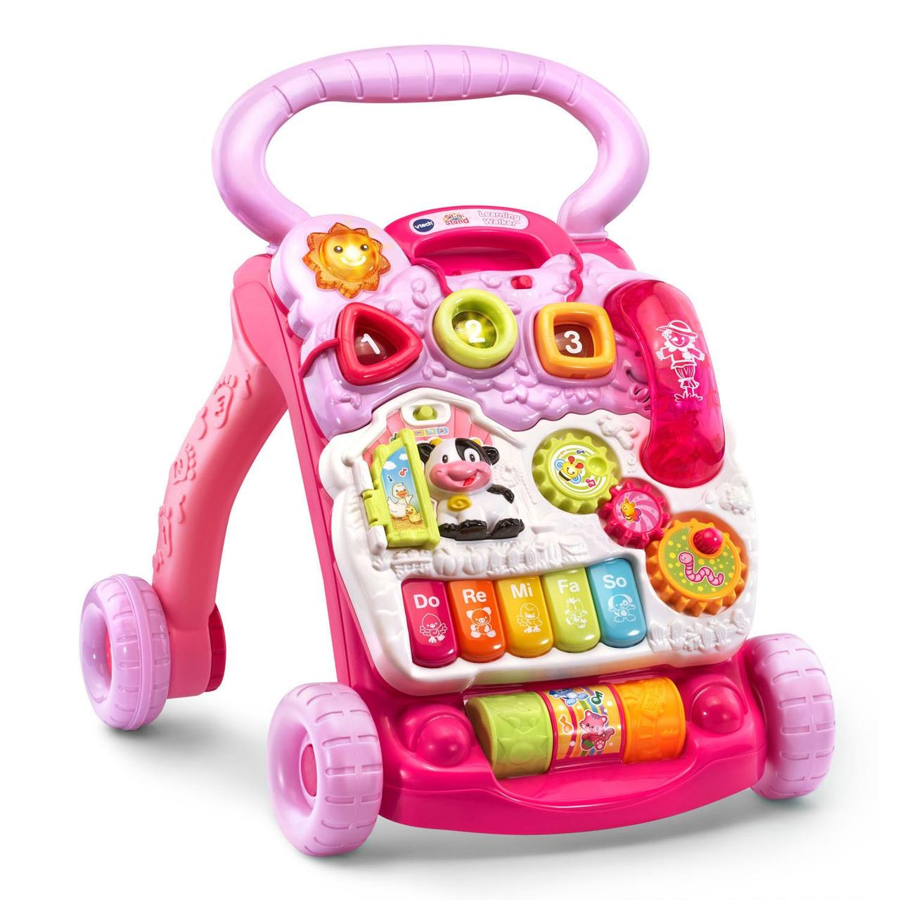 VTech Многофункциональные ходунки-толкатели со съемной игровой панелью, розовые