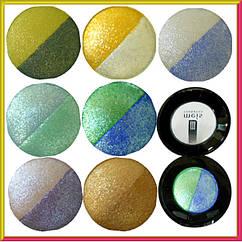 Тени для Век Meis MS 0102 Двухцветные Компактные с Аппликатором, 8 тонов Упаковкой Косметика Глаза.