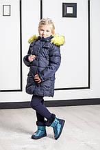Детская парка для девочки Верхняя одежда для девочек BRUMS Италия 173MIAA004 Синий