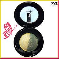 Тени для Глаз Meis MS 0102 Двухцветные Двойные Компактные Тон 02 Желто Зеленые Декоративная Косметика
