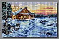 Схема для вышивки бисером Зимний закат