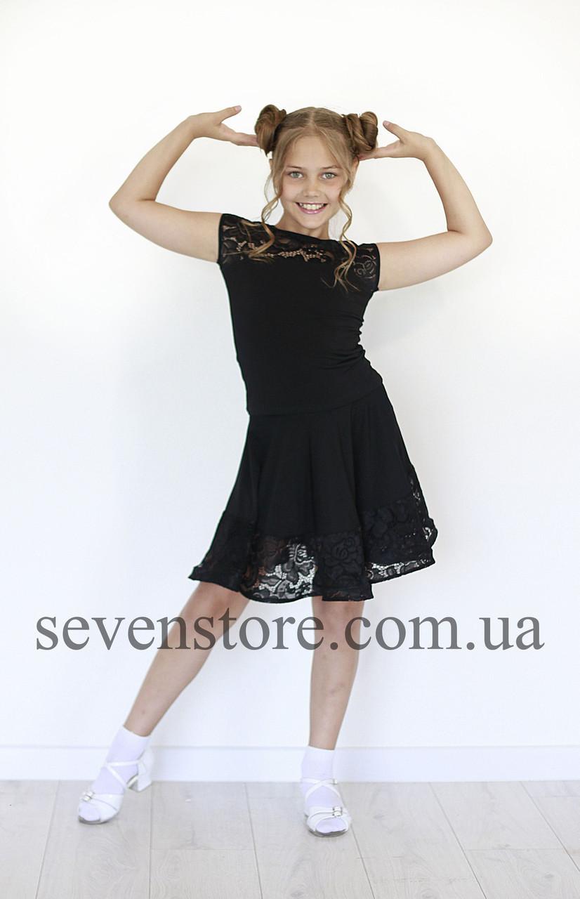 Топ для танцев  Sevenstore 8119 Черный