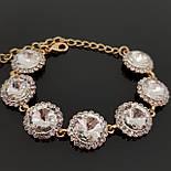 Свадебный браслет с белыми камнямм, фото 2