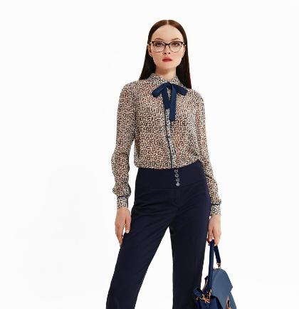 Блуза женская шифоновая Noche Mio SOLO-2 6.036, размер 40/L