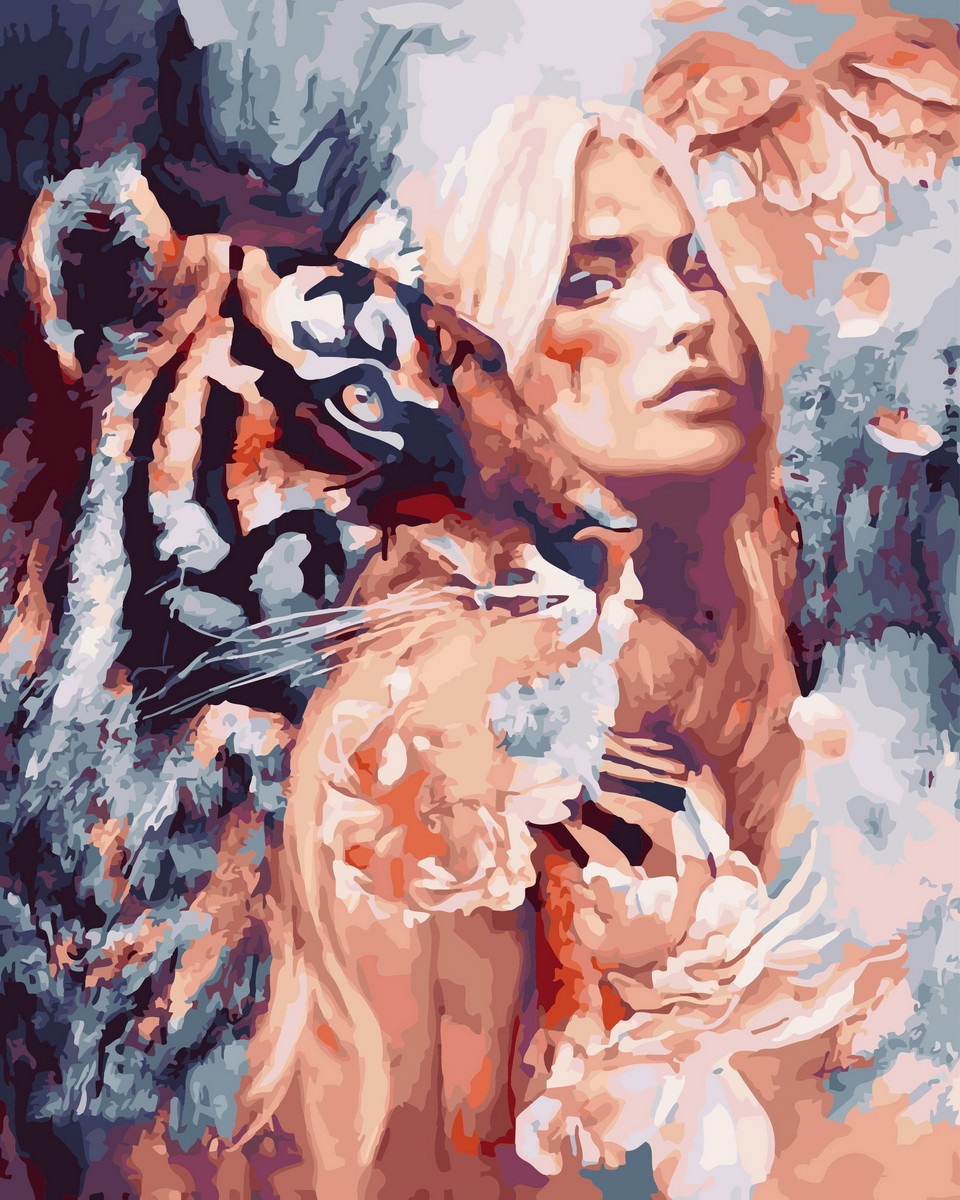 Картина по Номерам 40x50 см. Вместе с тигром Rainbow Art