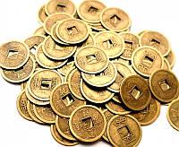 9270006 Монета d = 2,4 см. штучно бронзовый цвет 100 МОНЕТ