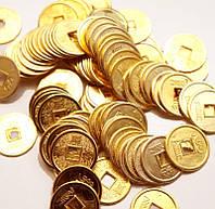 9270047 Монета d = 2 см. штучно золотой цвет 100 МОНЕТ
