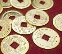 9270002 Монета штучно золотой цвет