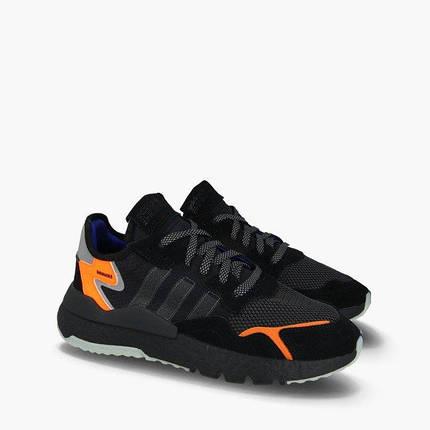 Мужские Кроссовки Adidas Nite Jogger Man 2019 Black Черные, фото 2