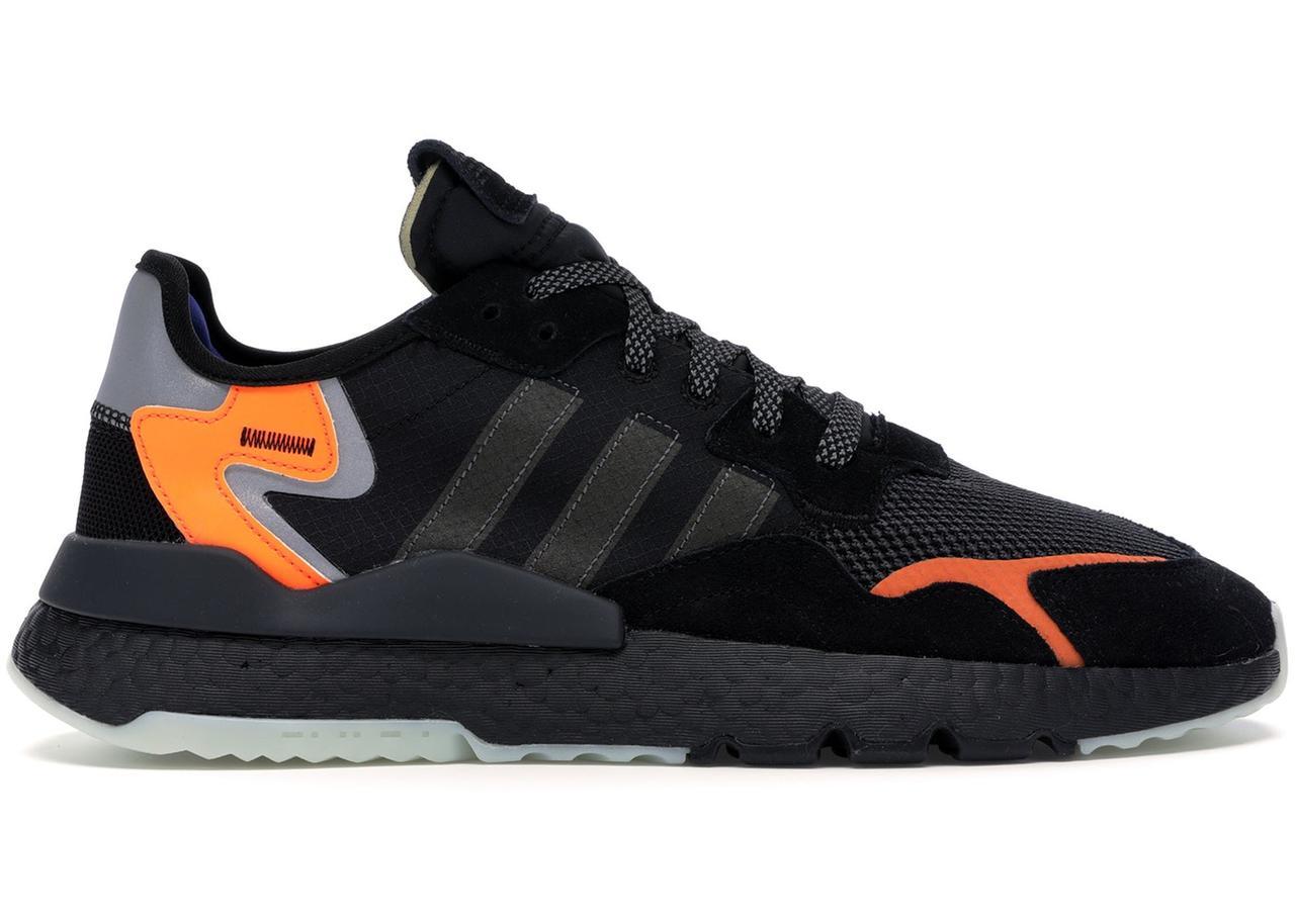 Мужские Кроссовки Adidas Nite Jogger Man 2019 Black Черные
