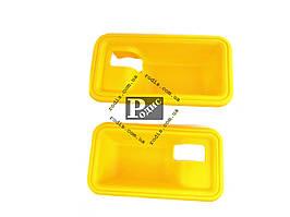 Накладка под внутреннюю ручку ВАЗ 2108, 09, 099 (мыльница, желтая), 2шт