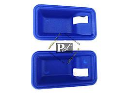 Накладка под внутреннюю ручку ВАЗ 2108,09,099 (мыльница, синяя), 2шт