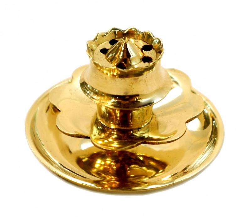 9370134 Подставка под благовония желтый метал Арт.20128