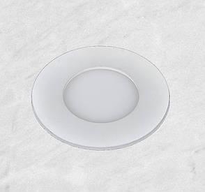 Врезной светильник (круг, 30см, 24W, холодный свет), фото 2
