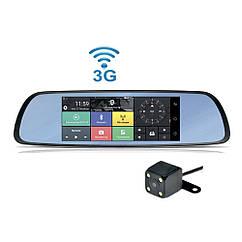 "Мультимедийное Зеркало Видеорегистратор MR-220 Android 7"" WIFI, 3G, GPS, Bluetooth, 1920x1080, 2-cam"