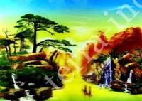 9040083 Постер голографический №12 Река в красных горах