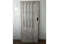 Новинка. Двери гармошка полуостеклённые бамбук 86х203, Более 20 цветов. Межкомнатные двери гармошка.