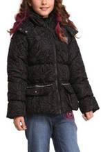 Детская куртка для девочки Верхняя одежда для девочек Desigual Испания 46E3090 Черный