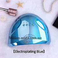 Гибридная лампа Sun One для сушки ногтей UV/LED 48w, зеркальная(цвет голубой).