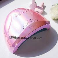 Гибридная лампа Sun One для сушки ногтей UV/LED 48w, зеркальная (цвет розовый.)