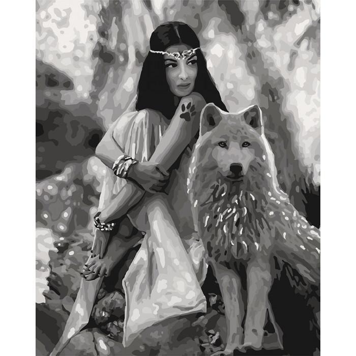 Картина по номерам Вовчиця, 40x50 см., Идейка