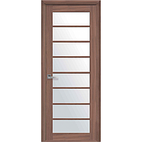 Дверь межкомнатная Виола ольха 3D 600 мм со стеклом сатин (матовое), Экошпон.
