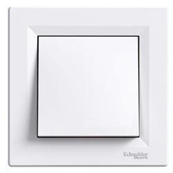 Кнопочный выключатель 1-кл. белый Asfora EPH0700121