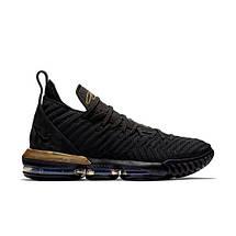 Мужские Кроссовки NIKE LEBRON 16 Zoom Black/Gold Черные высокие, фото 3