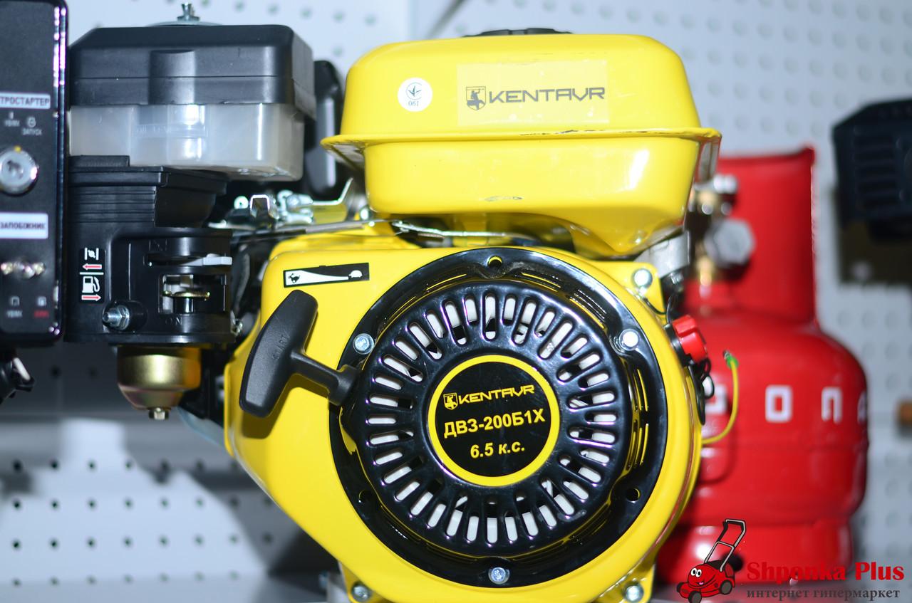 Двигатель бензиновый с редуктором 6,5 л.с. вал 20 мм шпонка Кентавр ДВЗ-200Б1Х