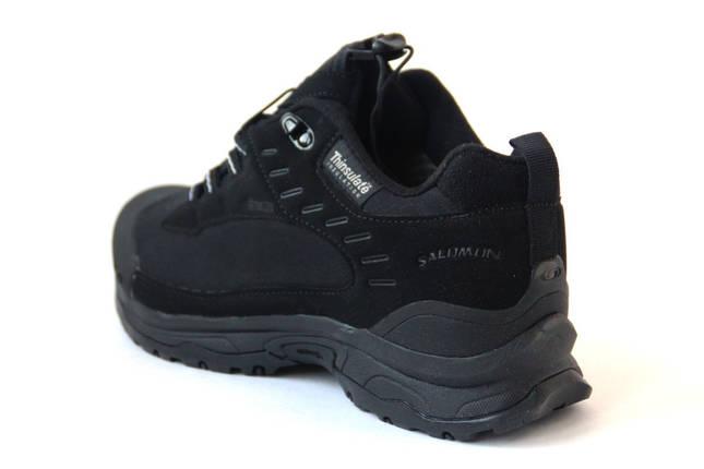 Мужские Кроссовки Salomon SoftShell Dry All black Черные, фото 2
