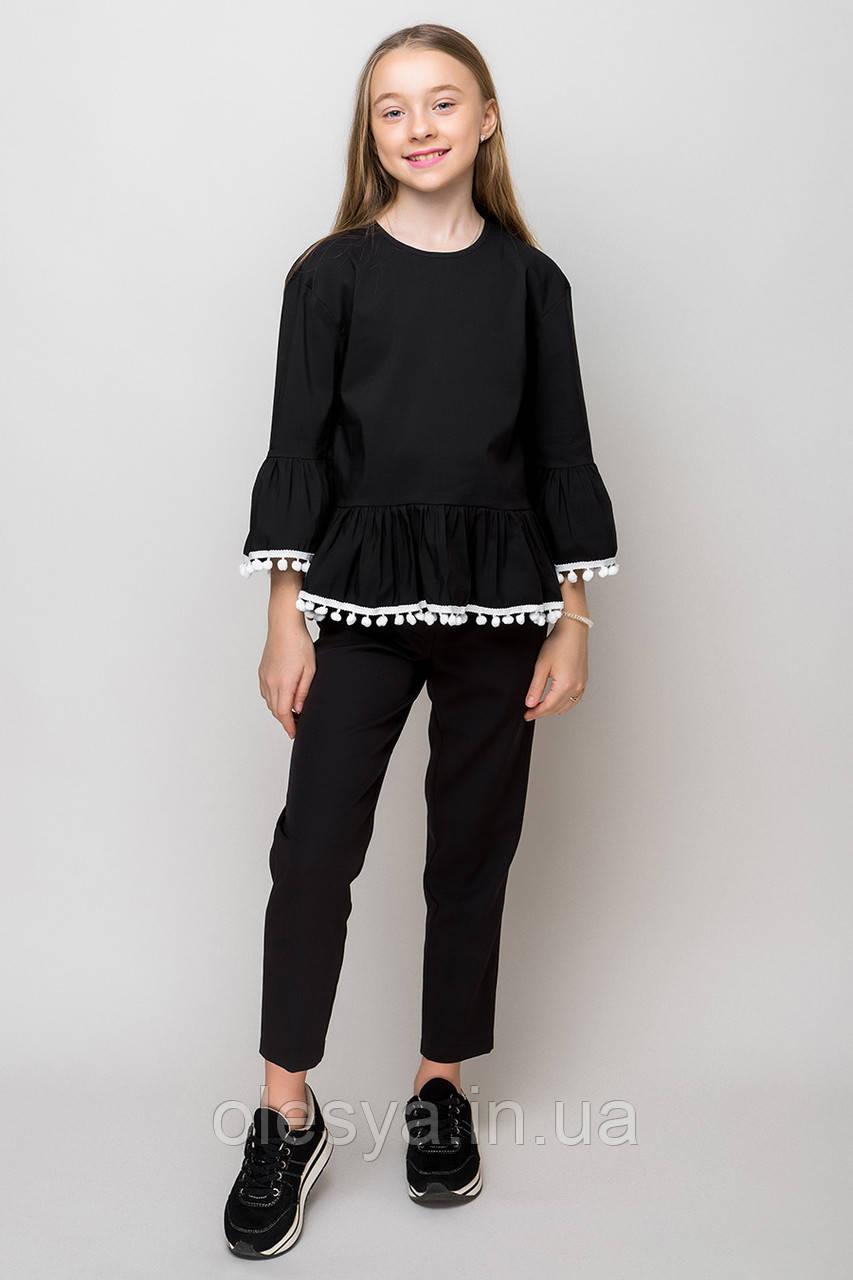 Школьная блуза для девочек sh-69 Barbarris Размеры 134- 164