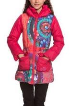 Детская куртка для девочки Верхняя одежда для девочек Desigual Испания 48E3096 Розовый