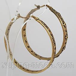 Серьги кольца в винтажном стиле