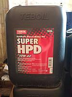 Моторное масло Teboil Super HPD 10W-40 (20 л.)/синтетика для дизелей